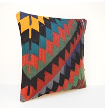16x16'',zig zag kilim pillow,Modern decor, Colo... - $16.00