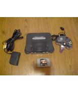 Nintendo 64 Charcoal Grey Console (NTSC) w/ nam... - $89.09