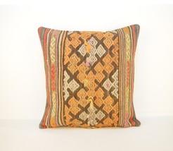 pastel kilim pillow,antique decor, Colorful pil... - $16.00