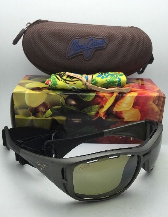 Polarized MAUI JIM Sunglasses HT 410-11B WATERMAN Titanium Frame w/ Maui HT Lens