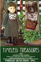"Timeless Treasures  - 17"" to 19"" Doll Dress Pat... - $5.95"