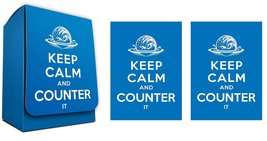 Keep Calm And Counter it- 100 Iconic Elemental Blue Shuffle-Tech Gloss Finish Sl - $10.65