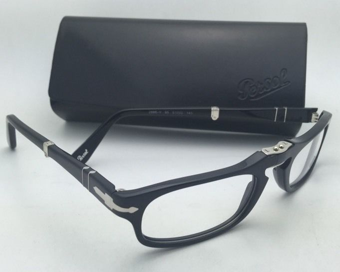 f2d887b486cf8 Folding PERSOL Rx-able Eyeglasses 2886-V 95 51-22 145 Black Frames