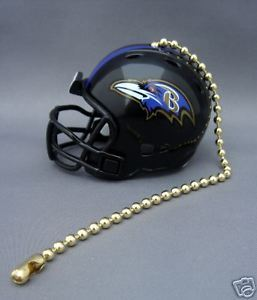 BALTIMORE RAVENS CEILING LIGHT/FAN PULL & CHAIN  NFL FOOTBALL HELMET