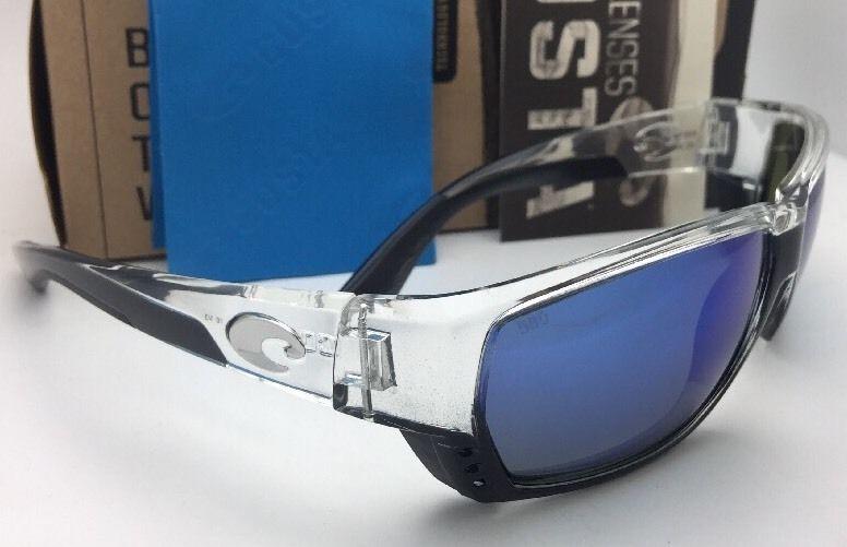3f424ca47d5 Polarized COSTA Sunglasses TUNA ALLEY TA 39 Crystal-Black Frame w  Blue  Mirror
