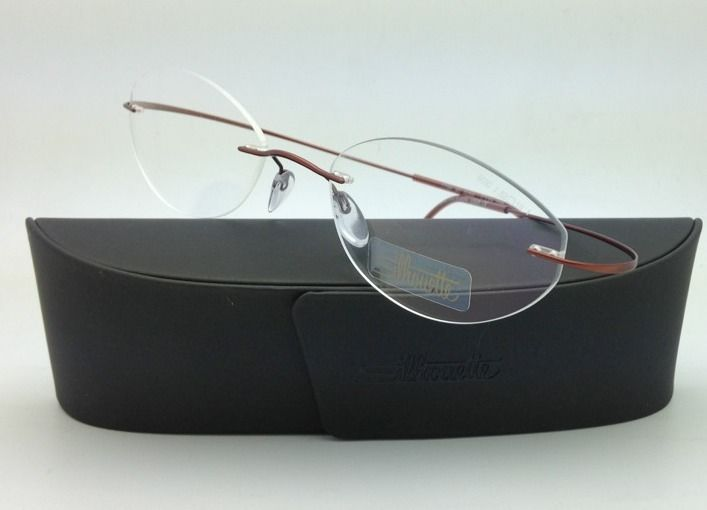 New SILHOUETTE Eyeglasses TITAN MINIMAL ART 7799 6069 Copper 53-19 150 Demo lens