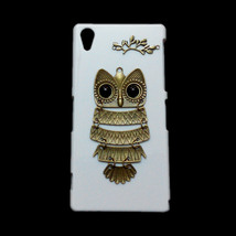Cute Retro Bronze Metal Owl Branch Hard Back Skin Case Cover for Sony Xp... - $7.99