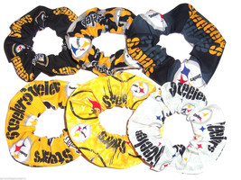 Pittsburgh Steelers Fabric Hair Scrunchies by Sherry Ponytail Holder Lot... - $39.95