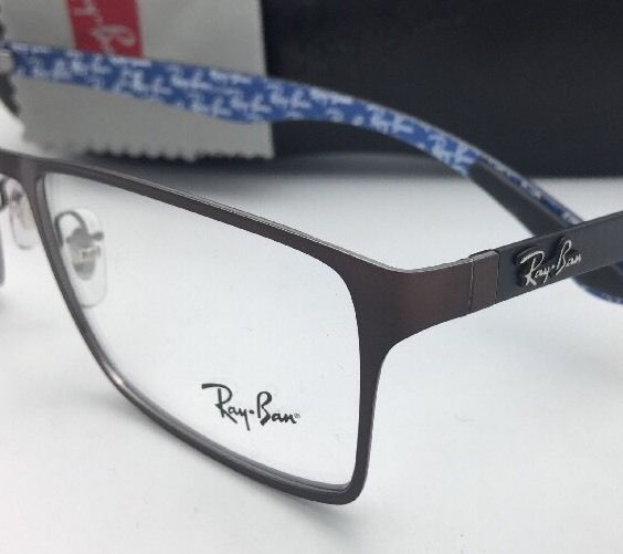 a627b6f77dded New RAY-BAN Rx-able Eyeglasses RB 8415 2862 53-17 Brown-Blue w  Carbon Fiber