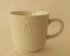 Coca Cola Embossed White Coffee Tea Cup Gibson - $31.09