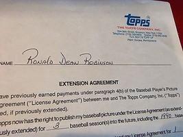 RON ROBINSON(Cinti. Reds) Signed 3/23/1989 -3 Year Topps Baseball Card C... - $125.00