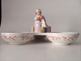 Snowlady Triple Candy Nut Dish 2003 Avon Presid... - $9.70