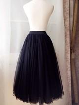 BLACK MAXI SKIRT Plus Size Elastic Full Long Black Tulle Skirt Black Party Skirt image 3