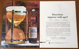 1961 Budweiser Vintage Print Ad Hourglass 2 Page - $7.18