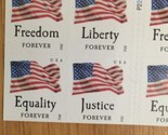 20 Forever US Flag Stamps Freedom Liberty Justice Equality First Class  2012 New