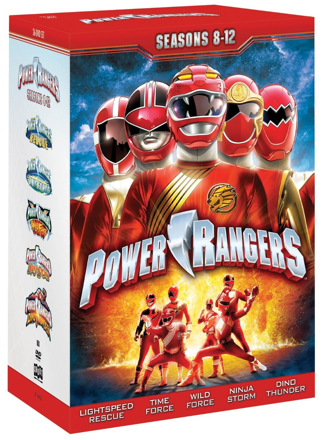 Power rangers seasons eight twelve 8 12  dvd 2013 26 disc box  8 9 10 11 12