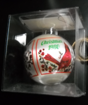 Hummelwerk Christmas Ornament 1980 Unbreakable Satin Christmas Cardinals Boxed - $11.99