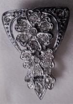 Vintage Antique Rhinestone Deco Pot Metal Dress Scarf Belt Clip - $19.95