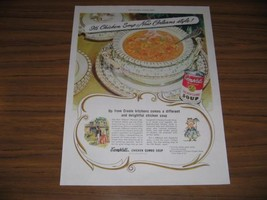 1949 Print Ad Campbell's Chicken Gumbo Soup New Orleans Style Kid Character - $12.86