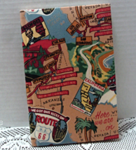 Quillmark Fabric Covered Lined Travel Journal // Diary - $6.00