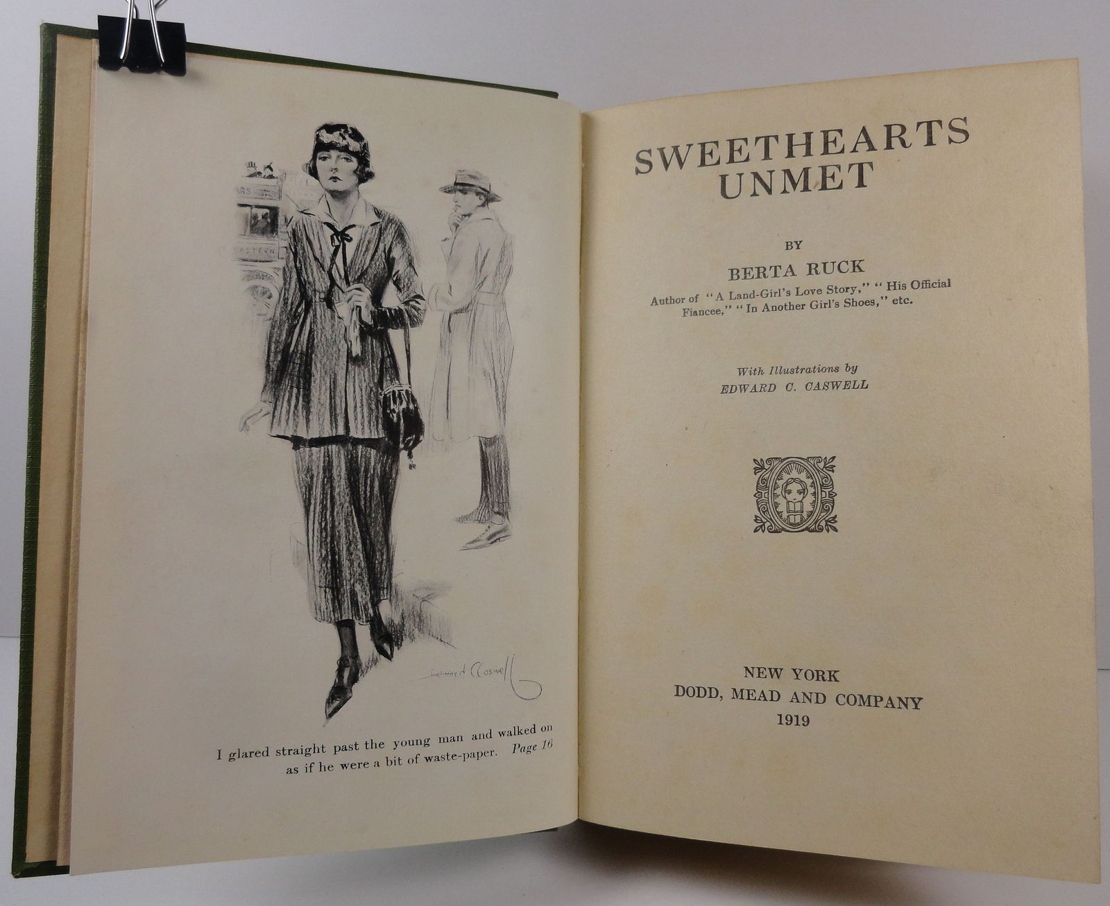 Sweethearts Unmet by Berta Ruck 1919 Dodd Mead Caswell Illus