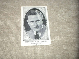 American Caramel Company Actor Card # 36 Herbert Rawlinson of Universal VG - $4.33