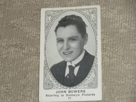 American Caramel Company Actor Cards # 77 John Bowers of Goldwyn Picture... - $5.79