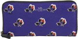 Coach Women's Slim Accordion Zip In Bramble Rose Print Canvas Wallet, St... - $176.22
