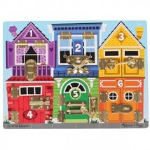 2 Item Bundle: Melissa & Doug 3785 Latches & Doors Board + Free Activity... - $29.11