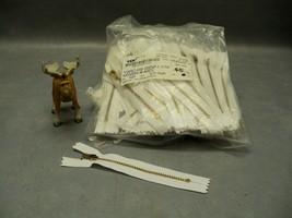 """5"""" Zipper White closed End Golden Brass YKK YGRC-459 Lot of 116 - $150.19"""