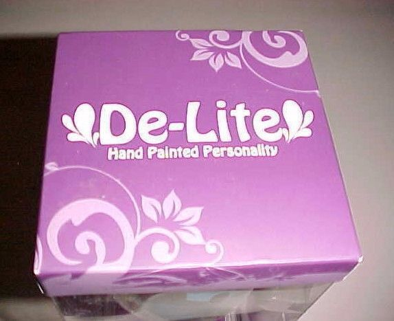 De-Lite Working Girls Design One Kind Girl Wine Water Goblet Hand Painted New