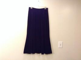 Dialogue Very Dark Brown Long Velvet Skirt Size Large