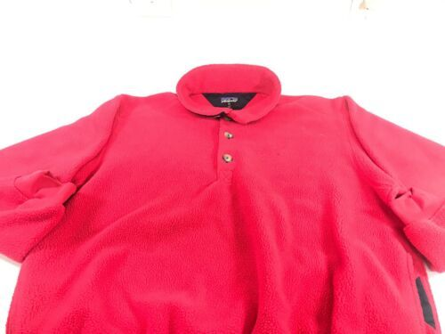 Primary image for VTG Patagonia Red Heavy Fleece 3 Button Women's XL Made In USA A1