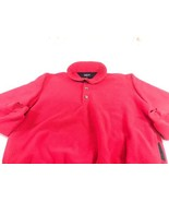 VTG Patagonia Red Heavy Fleece 3 Button Women's XL Made In USA A1 - $24.75