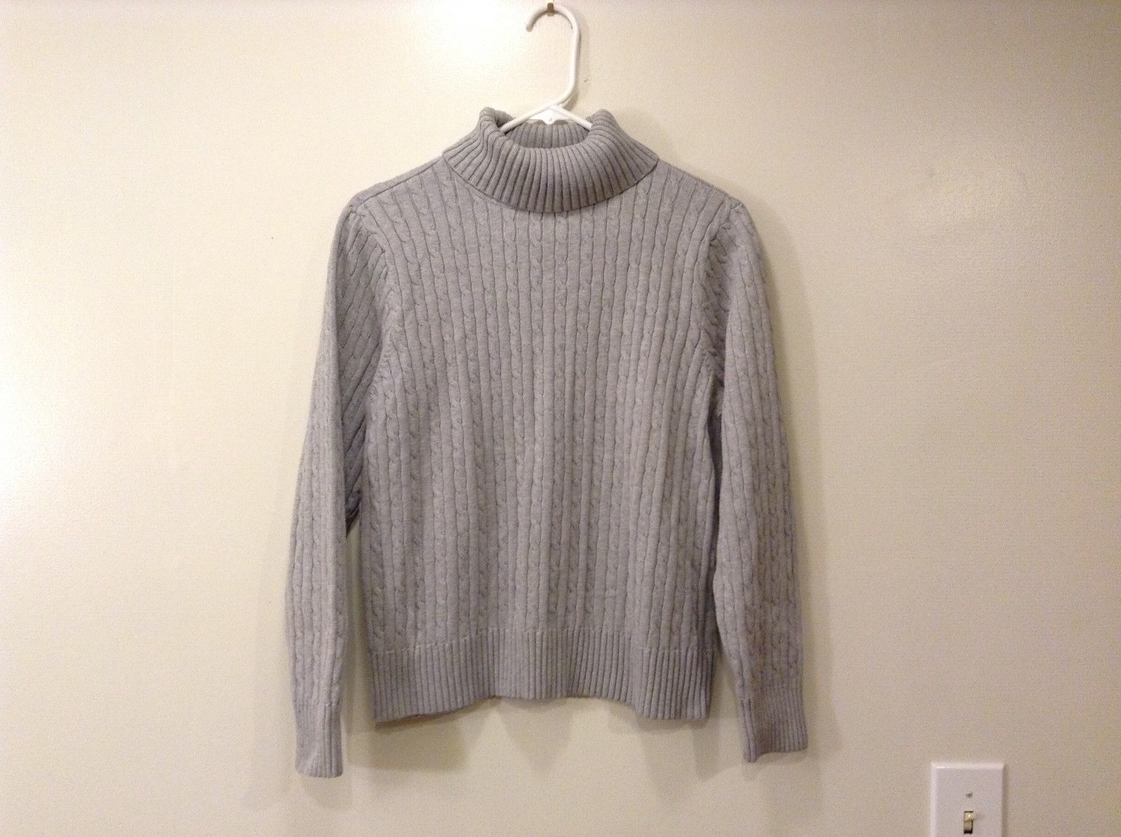 Ladies Jeanne Pierre Heather Gray Knitted Turtleneck Sz XL