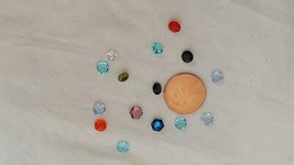 """15 Tiny 1/16"""" Authentic Origami Owl Glass Crystal Floating Charms Multicolored - $4.94"""
