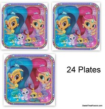 Shimmer and Shine Party Favors Party Birthday Plates Lunch Dinner Gennie... - $18.76