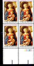 USPS Stamps - Christmas USA  Plate Block 20 cent stamps - $3.95