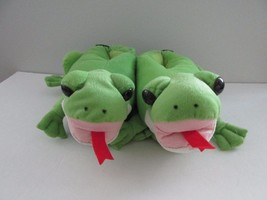 New Comfy Feet Size M Unisex Green Frog Animal Feet Slippers - $29.58