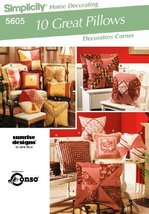 Simplicity Home Decorating #5605 - 10 Great Pillows - Pattern - $12.86