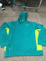 Men's Nike Therma-Fit Green Hoodie Sweatshirt Small Excellent Condition - $17.81