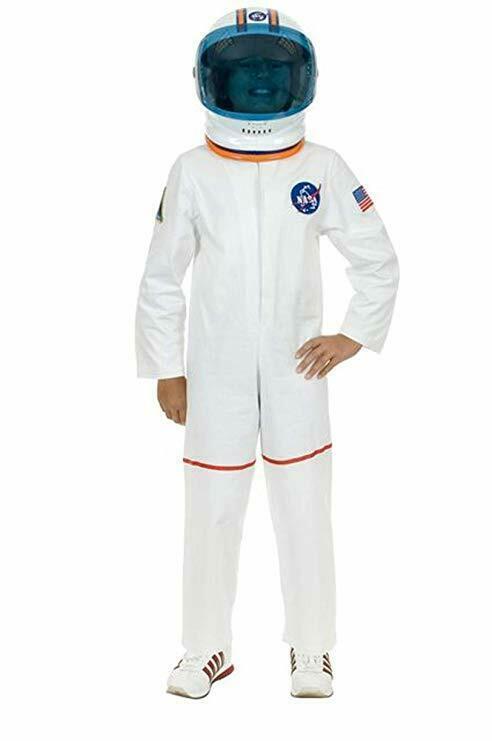 Charades Astronauta Volo Abito Nasa Bianco Bambini Costume Halloween CH00582