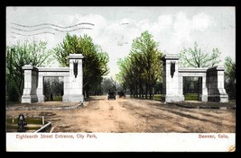 City Park Entrance Postcard 1906 Colorado Denver Post Office Undercover ... - $16.50