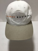 Official Licensed American Needle Harley-Davidson White Hat Cap Strapbac... - $33.25