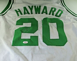 GORDON HAYWARD / AUTOGRAPHED BOSTON CELTICS WHITE CUSTOM BASKETBALL JERSEY / COA image 1