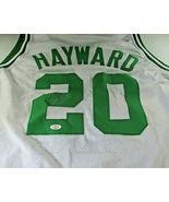 GORDON HAYWARD / AUTOGRAPHED BOSTON CELTICS WHITE CUSTOM BASKETBALL JERSEY / COA - $98.95