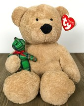 "2005 Ty Pluffies Beary Merry Brown Bear Plush With Tag 9"" - $16.03"