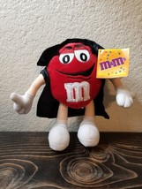 "M&M's Candy Red Halloween Plush Dracula Cape Stuffed Animal 9"" - $12.99"