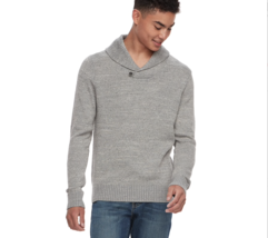Urban Pipeline Shawl Collar Sweater Gray Mens Size Large NWT - $24.24