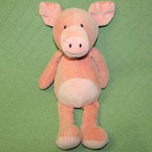 "Melissa Doug Pink Pig Stuffed Animal Ribbed Corduroy Floppy Plush 15"" Lovie Toy - $19.80"